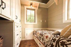 Tiny home bedroom by Timbercraft Tiny Homes