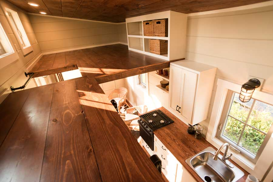 Tiny house loft by Timbercraft Tiny Homes