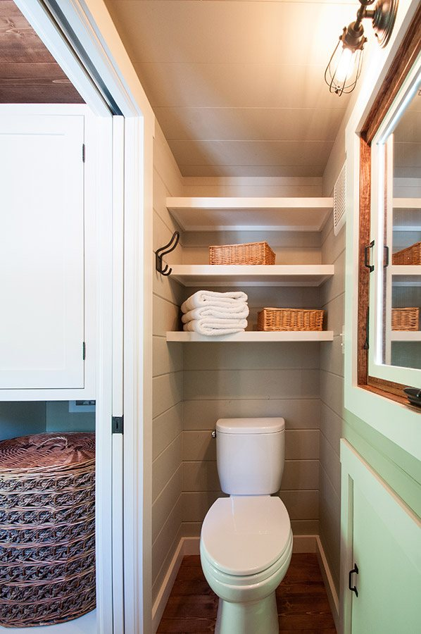 Tiny house toilet by Timbercraft Tiny Homes