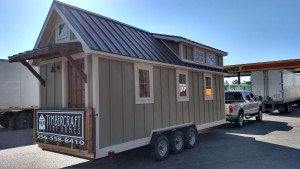 Tiny house delivery by Timbercraft Tiny Homes