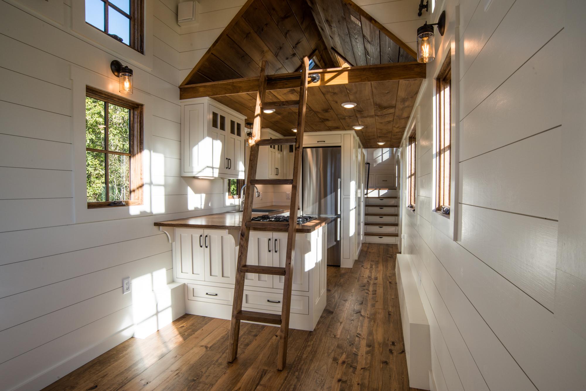 Kitchen With Loft Storage